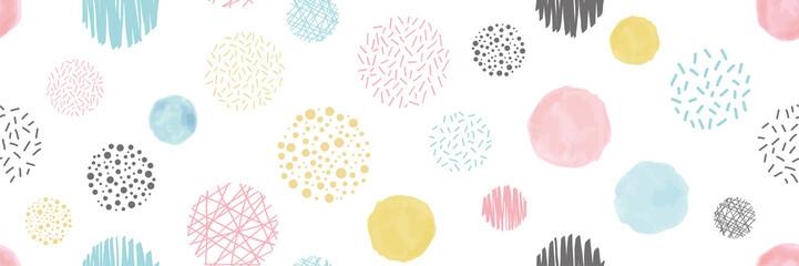 様々な円形のシームレスパターン