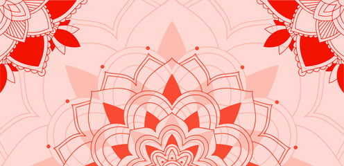 Mandalas pattern on pink background