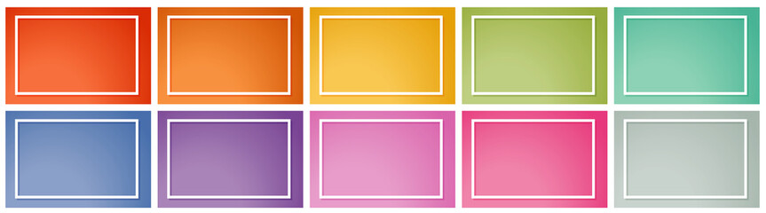 Background template in many colors