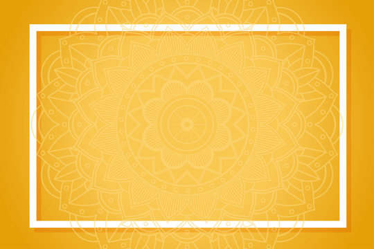 Yellow background with mandala patterns