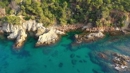Fototapete - Spain, Costa Dorada coastline
