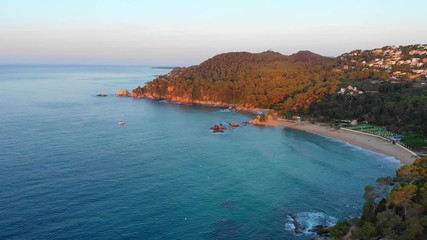 Fototapete - Scenic seashore of Spain from above