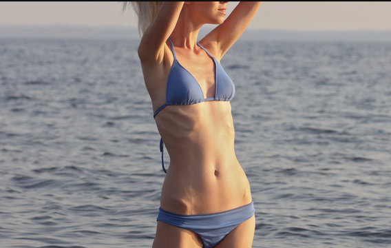 Unhealthy thin female body. Eating Disorder, Anorexia