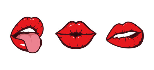 Isolated mouth cartoon set vector design