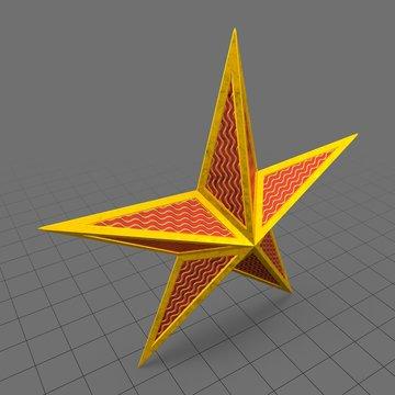Christmas star ornament 1