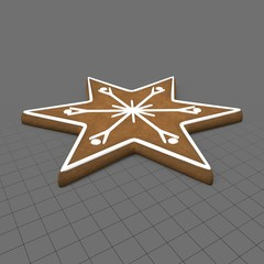 Gingerbread star cookie 1