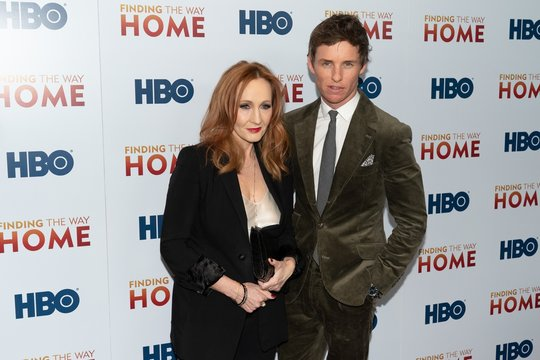 J.K. Rowling, Eddie Redmayne at arrivals for FINDING THE WAY HOME Premiere