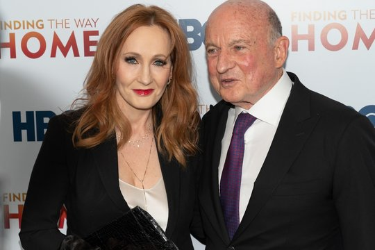 J.K. Rowling, Richard Robinson at arrivals for FINDING THE WAY HOME Premiere