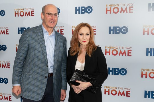 John Stankey, J.K. Rowling at arrivals for FINDING THE WAY HOME Premiere