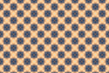 Blue and sandy abstract background. template with geometric design. symmetric Abstract geometric ornaments and decorative kaleidoscope texture Wall mural