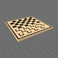 Checkers game board