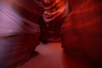 Recess Fitting Magenta Antelope Canyon. Canyon in Arizona. Page. USA.