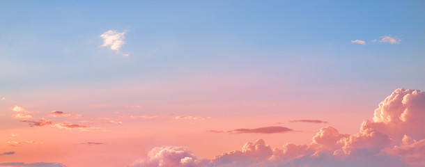Beautiful sunset sky. Dramatic colorful clouds after sunset. Nature backgrounds. Fotomurales