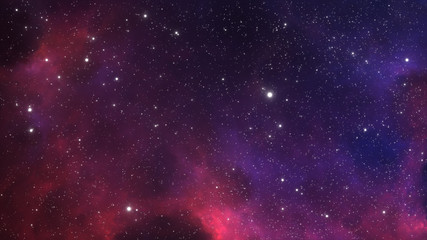 Wall Mural - Space background with extrasolar nebula and stars