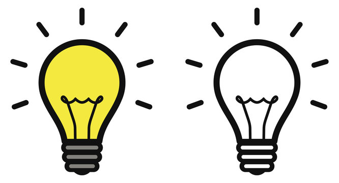 Lightbulb icon. Bulb, lamp icon. Idea sign. Vector