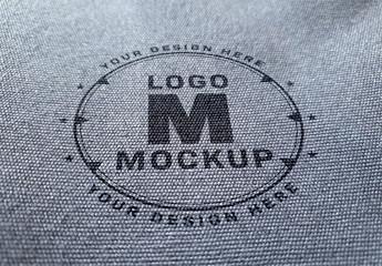 Logo Mockup on Denim Fabric Texture