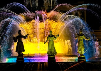 Magic fountain, VDNKH park, Moscow, Russian Federation