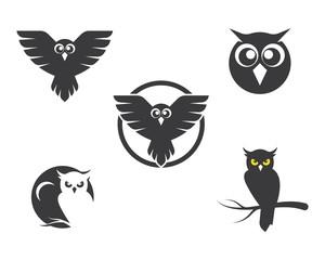 Canvas Prints Owls cartoon owl icon vector illustration
