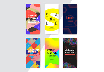 Colorful Mobile Banners Layout Set