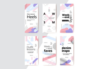Abstract Mobile Banners Layout Set