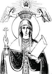 Saint Paraskeva, icon (vector)