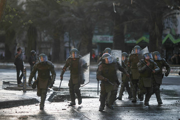 Protests against Chile's government in Santiago