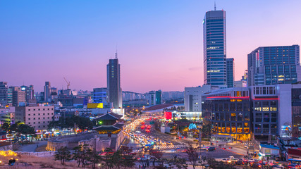 Stores photo Seoul Twilight of Seoul City at Namdaemun Gate Seoul South Korea