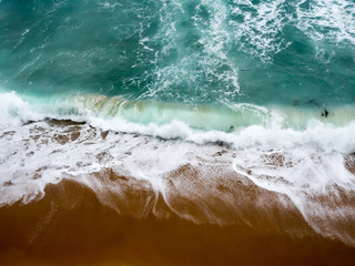 Abstract images of the mighty pacific ocean crashing ashore along the great ocean road