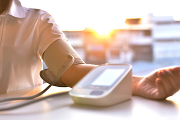 Blood pressure measuring with the morning sunrise to prevent high blood pressure