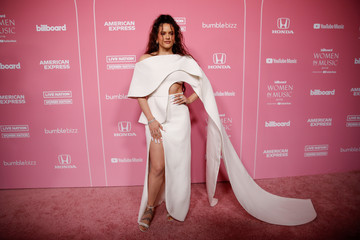 "Rosalia arrives on the red carpet for the ""Billboard Women in Music"" event in Los Angeles"