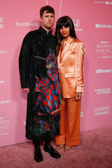 "James Blake and Jameela Jamil arrive on the red carpet for the  ""Billboard Women in Music"" event in Los Angeles"