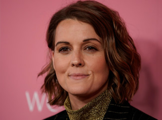 "Brandi Carlile arrives on the red carpet for the  ""Billboard Women in Music"" event in Los Angeles"