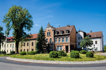 naumburg, deutschland - rondell mit alten häusern