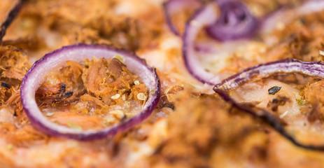 Fresh made Pizza full screen macro shot