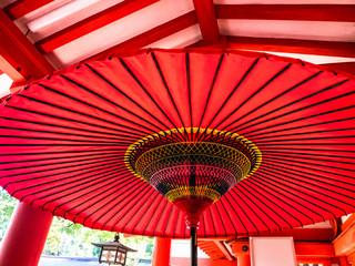 Photo sur Plexiglas Rouge 赤い和傘、日本
