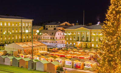 Helsinki Christmas Market On Senate Square ,Finland