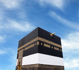 Fototapete - Kaaba in Mecca with sky background