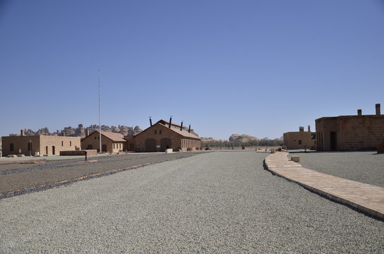 Landscape View of Al Ula Hejaz Railway Station, in Madain Saleh World Heritage, Al Ula, Medinah Province, Saudi Arabia
