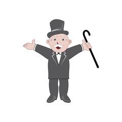 Vector of Monopoly man cartoon character design eps  format