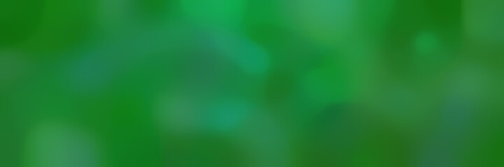 soft blurred horizontal background with forest green, sea green and green colors and space for text Wall mural