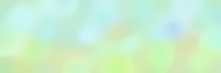 soft blurred horizontal background with tea green and pale turquoise colors and free text space Wall mural