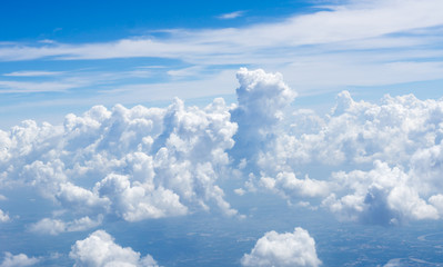 Canvas Prints clear sky with clouds ,Closeup blue background.