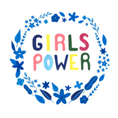 Papiers peints Positive Typography Girl power motivation text. Hand drawn watercolor, gouache motivation, inspiration phrase. Perfect for print, card. Female power.