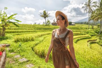 Woman at Jatiluwih rice terrace, Bali