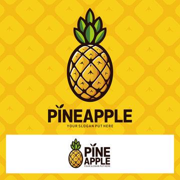 Pinapple Fruit Vector Graphic Logo