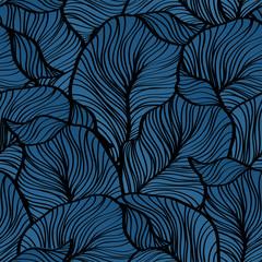 Illustration vectorielle Modèle sans couture rétro avec des feuilles abstraites