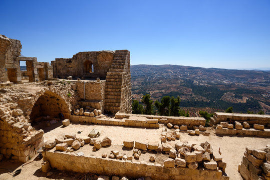 12th century Ajloun Castle also known as Qal'at ar-Rabad
