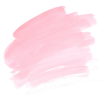Pink watercolor stain Soft paint ombre brush strokes Blush abstract gradient Invitation card background