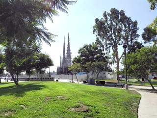 Los Angeles, California – September 10, 2018: WATTS TOWERS by Simon Rodia, architectural structures, located in Simon Rodia State Historic Park, LOS ANGELES