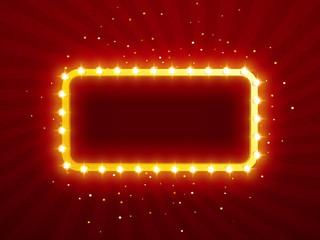 Retro frame for advertising